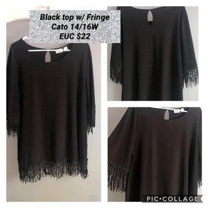 Cato Top with Fringe Detail